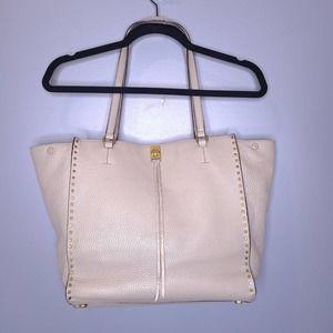 Rebecca Minkoff Darren Deerskin Gray Leather Studded Sueded Lining Tote Bag